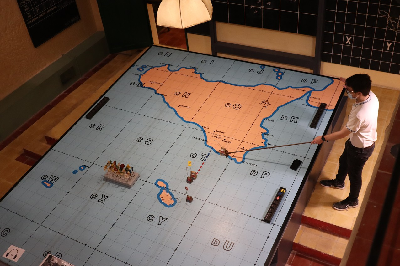 A View of the Map Room, War Rooms, Valletta
