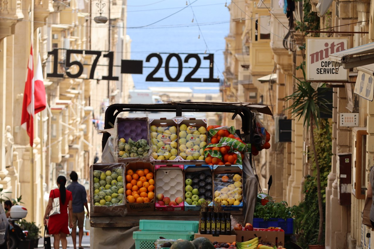 A Fruit Cart in Valleta