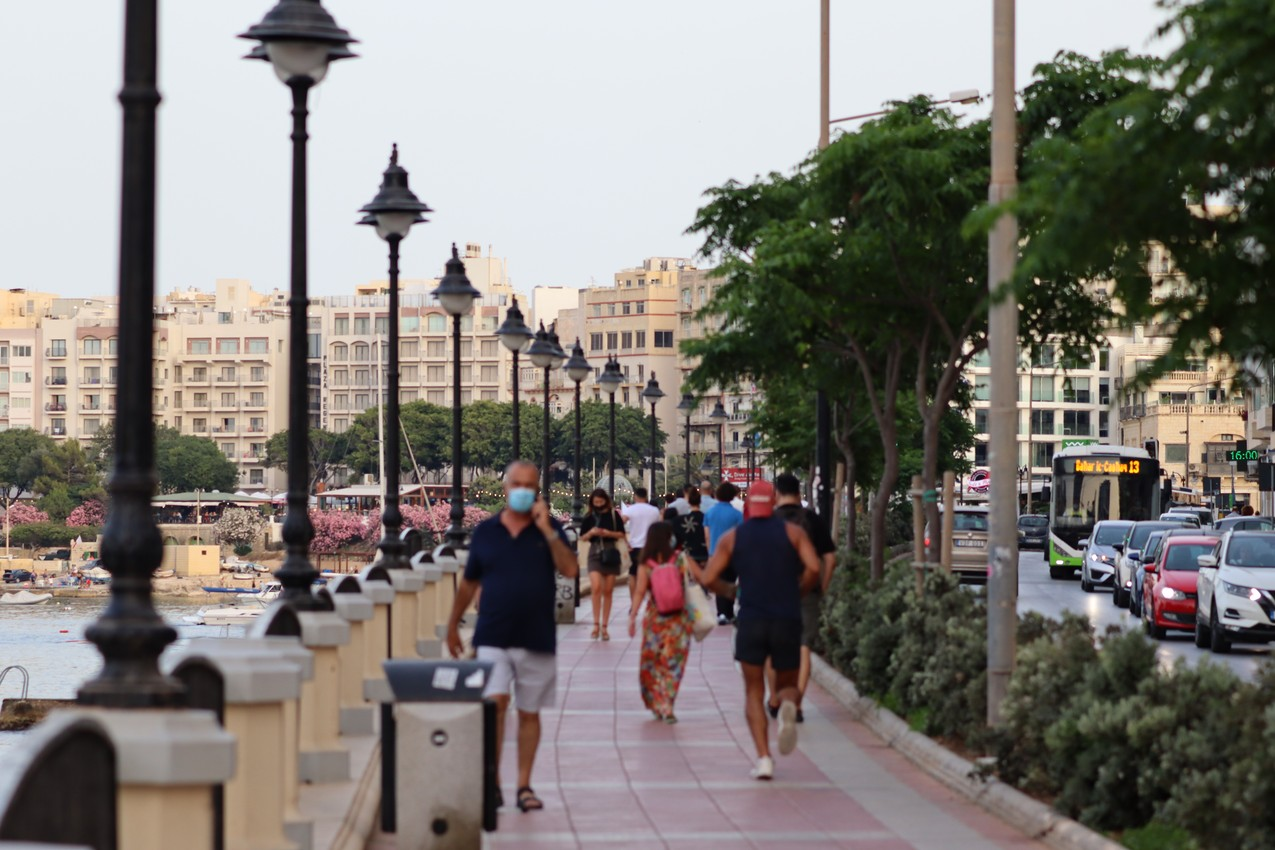 The Promenade along Ġorġ Borg Olivier Street