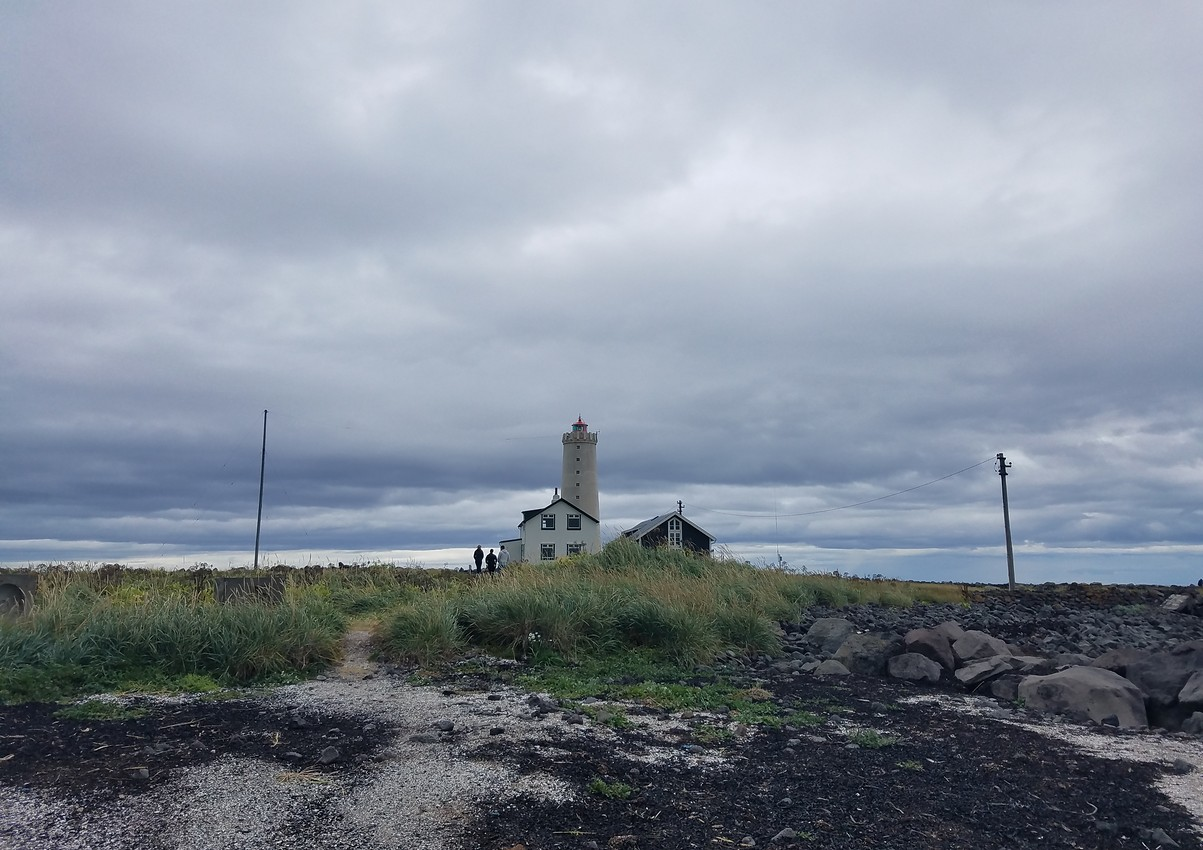 A picturesque lighthouse in Seltjarnarnes