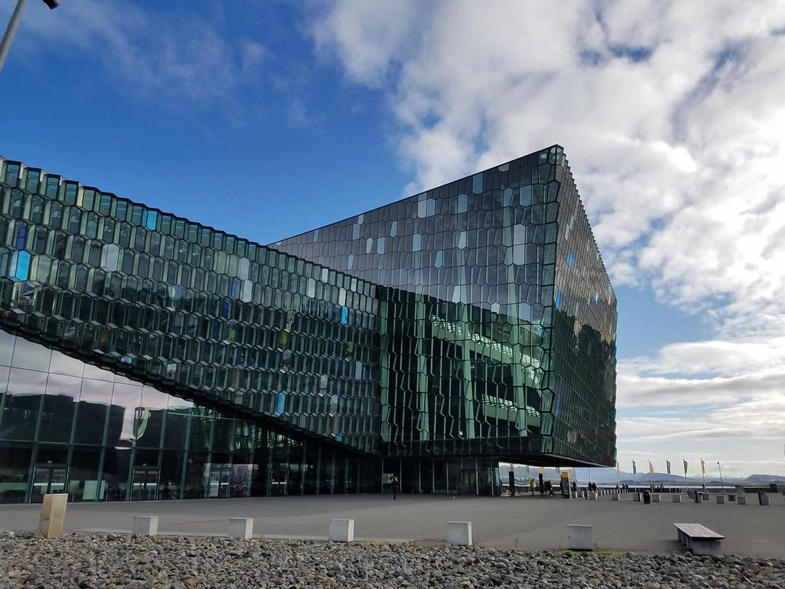 The famous concert hall in Reykjavík
