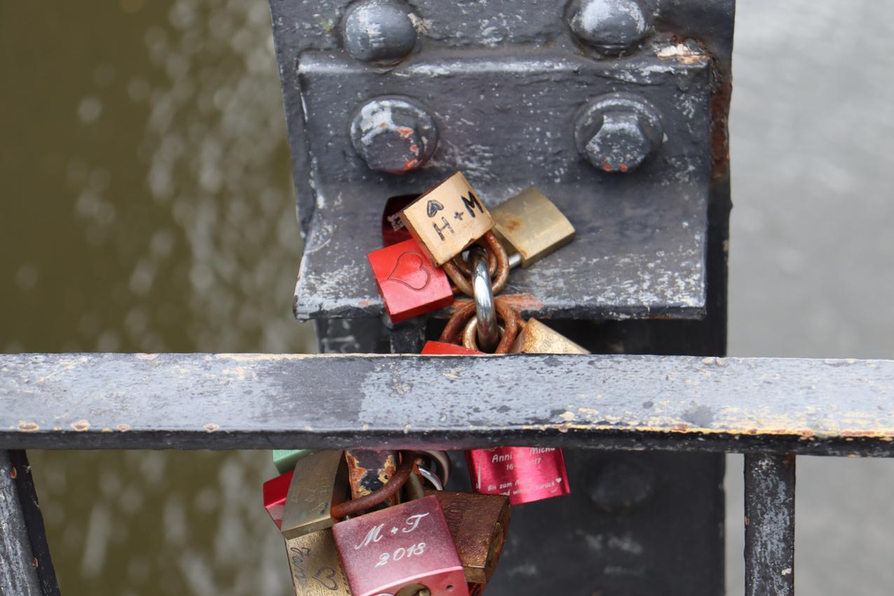 Love Locks at Poggemühlenbrucke, Hamburg 2020