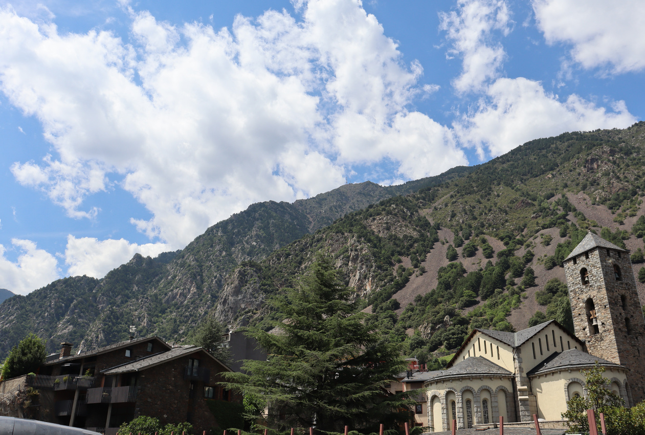 Mountains behind Sant Esteve d'Andorra la Vella, Andorra la Vella 2020