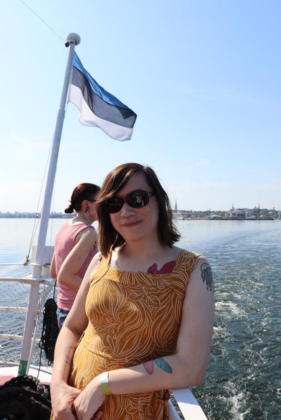 Portrait on a Ferry in the Bay of Tallinn